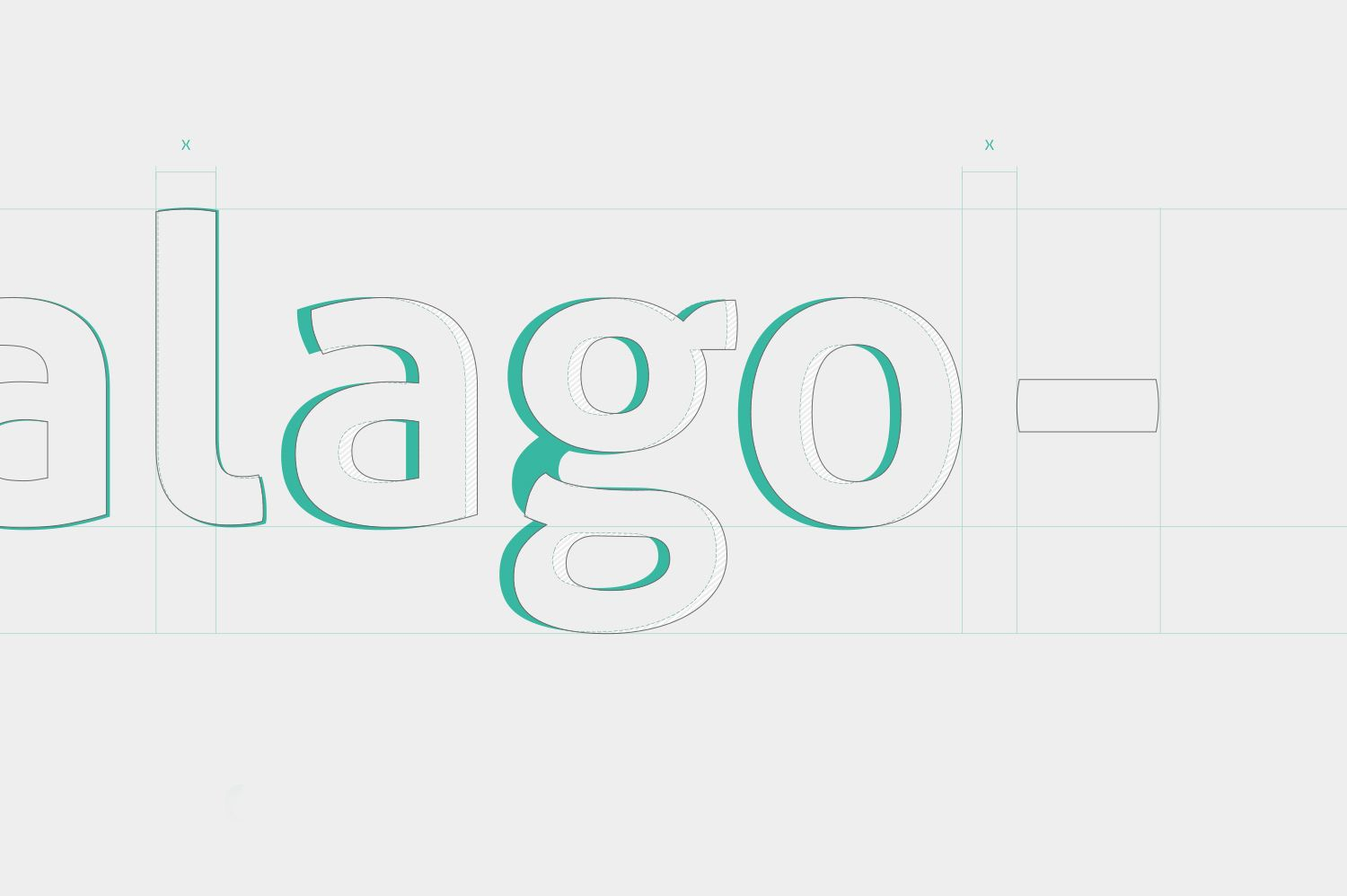 Haralago Wordmark Construction