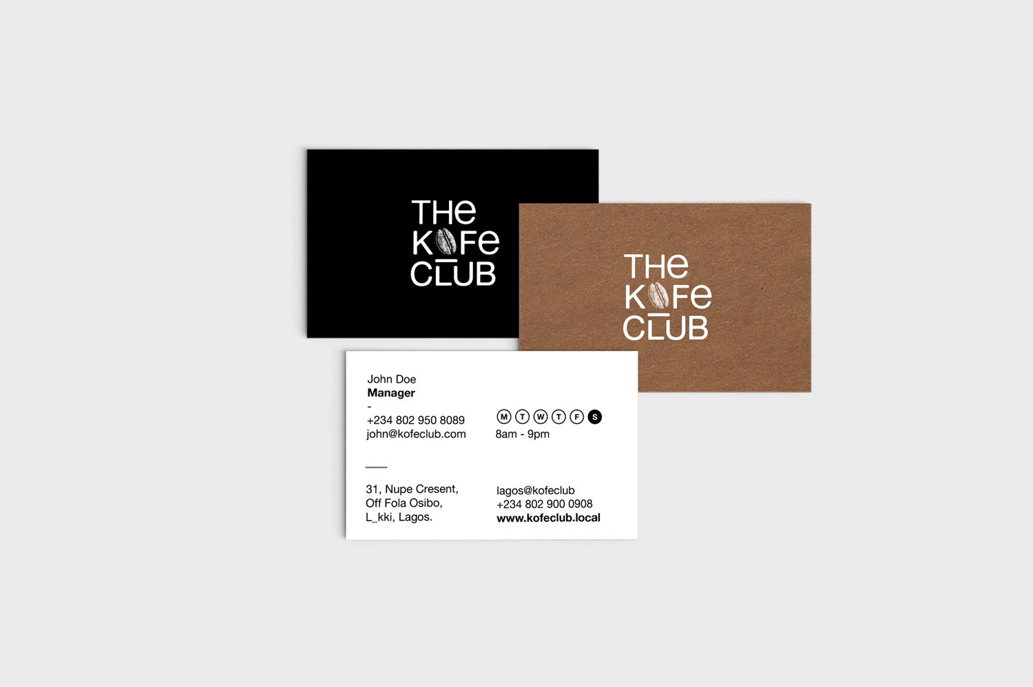 Kofe Club Business Cards