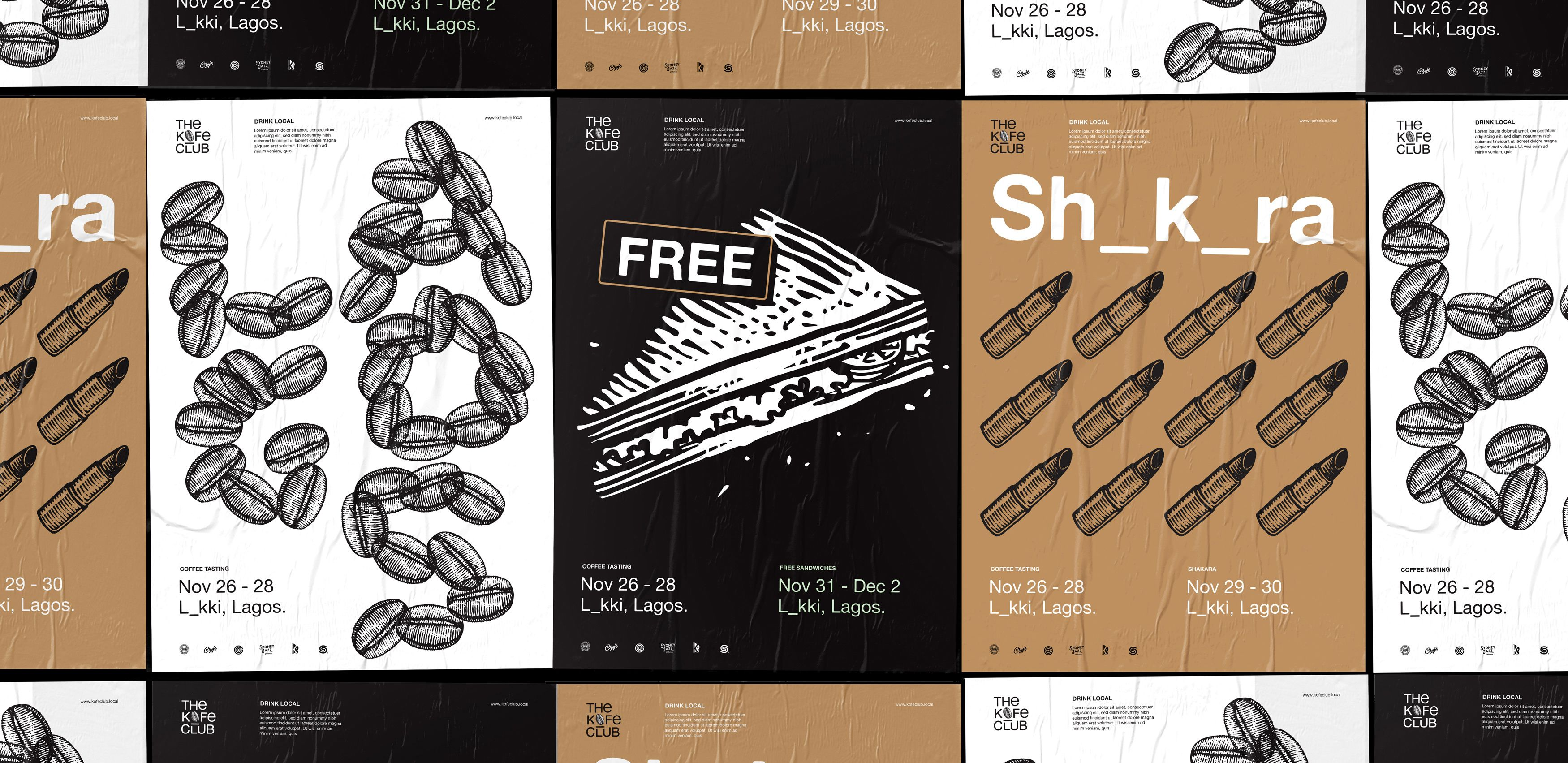 Kofe Club Posters